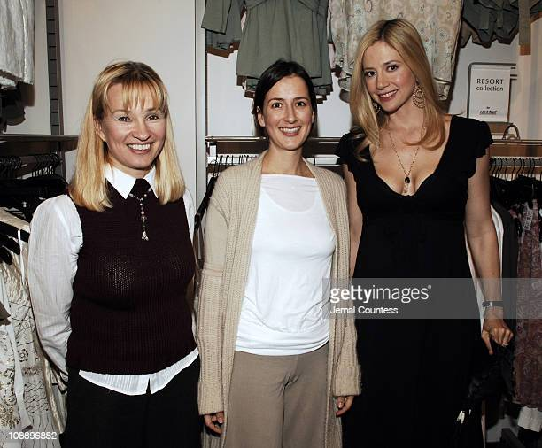 Rebecca Mathias owner of Destination Maternity Anna Getty and Mira Sorvino