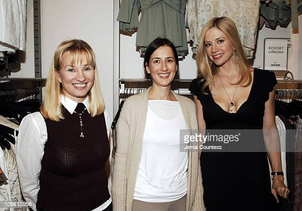 Rebecca Mathias, owner of Destination Maternity, Anna Getty and Mira Sorvino