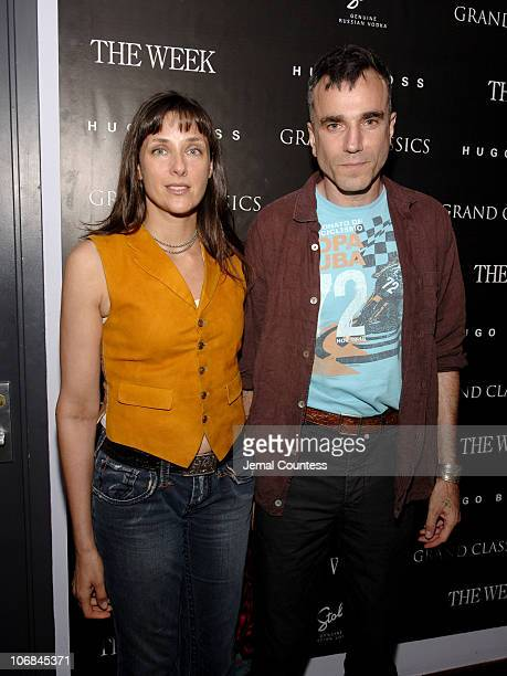 Rebecca Miller and Daniel DayLewis during Grand Classics Film Series Screening of 'Kes' Hosted by Daniel DayLewis and Rebecca Miller at Soho House...