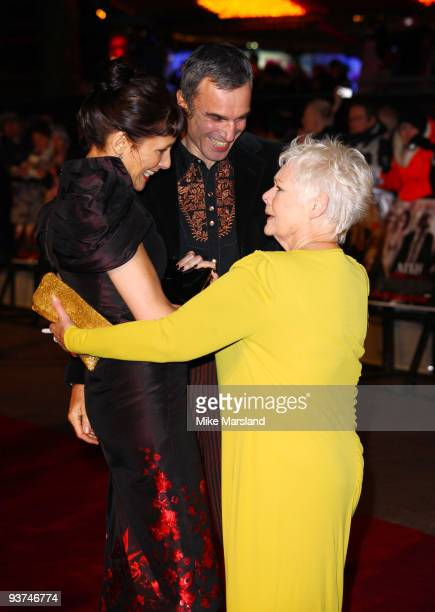 Rebecca Miller Daniel DayLewis and Dame Judi Dench attend the World Premiere of Nine at the Odeon Leicester Square on December 03 2009 in London...