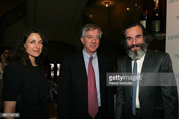 Rebecca Miller Dennis Ross and Daniel Day Lewis attend The Week at Grand Central Presents'Mideast Peace What Will It Take' at Michael Jordan's...