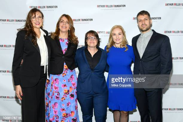 Rebecca Miller Nancy Abraham Cindy Tolan Jaime Hastings and Damon Cardasis attend the 2018 Arthur Miller Foundation Honors at City Winery on October...