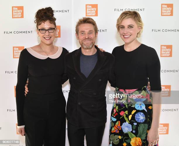 Rebecca Miller Willem Dafoe and Greta Gerwig attend the 2018 Film Society Of Lincoln Center Film Comment Luncheon at Lincoln Ristorante on January 9...