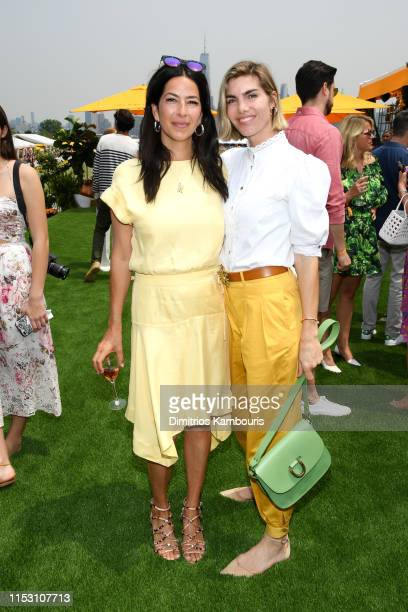 Rebecca Minkoff and Delfina Blaquier attend the 12th Annual Veuve Clicquot Polo Classic at Liberty State Park on June 01 2019 in Jersey City New...