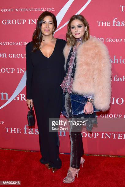 Rebecca Minkoff and Olivia Palermo attend the Fashion Group International's 34th Annual Night of Stars Gala at Cipriani Wall Street on October 26...