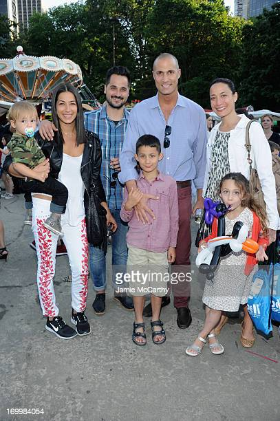 Rebecca Minkoff Gavin Bellour Photographer Nigel Barker and his wife Cristen Barker pose with their children at the 2013 Baby Buggy Bedtime Bash...