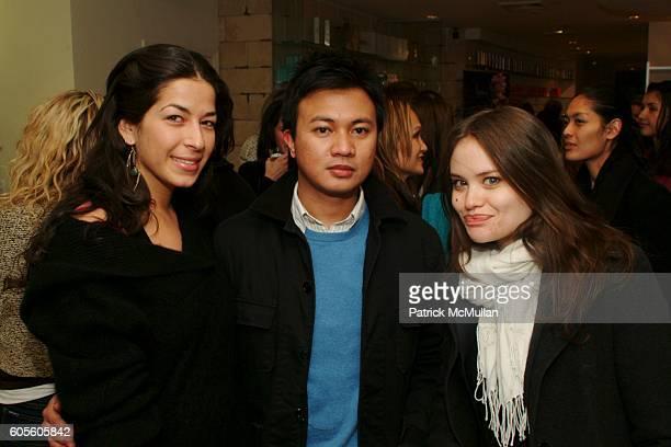 Rebecca Minkoff Ryan Urcia and Kristina Ratliff attend Acqua Beauty Bar Hosts A Bikini Bash at Acqua Beauty Bar on February 27 2006 in New York City