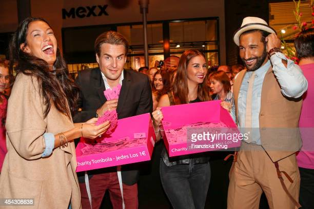 Rebecca Mir Alexander Klaws Sila Sahin and Massimo Sinato attend the Late Night Shopping Designer Outlet Soltau on August 28 2014 in Soltau Germany