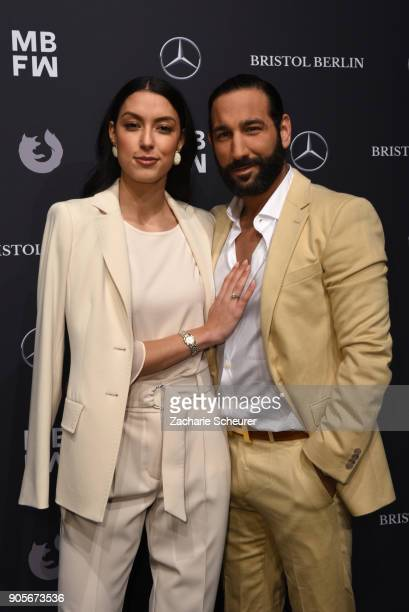 Rebecca Mir and her husband Massimo Sinato attend the Riani show during the MBFW Berlin January 2018 at ewerk on January 16 2018 in Berlin Germany
