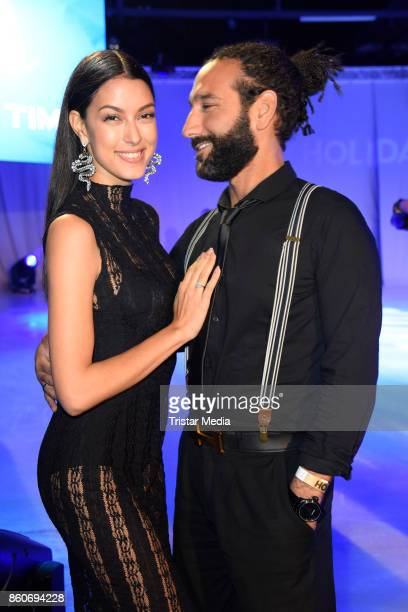 Rebecca Mir and her husband Massimo Sinato during the Holiday on Ice Season Opening 2017/18 at Volksbank Arena on October 12 2017 in Hamburg Germany