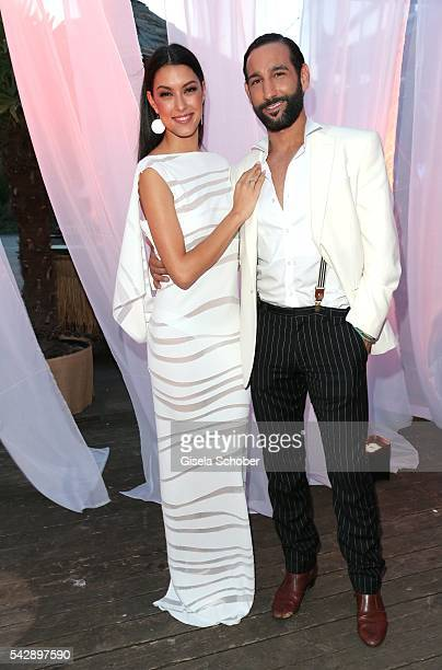 Rebecca Mir and her husband Massimo Sinato during the Raffaello Summer Day 2016 to celebrate the 26th anniversary of Raffaello on June 24 2016 in...