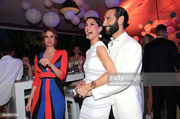 Rebecca Mir and her husband Massimo Sinato during the Raffaello Summer Day 2016 to celebrate the 26th anniversary of Raffaello on June 24 2016 in...