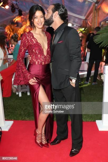 Rebecca Mir and her husband Massimo Sinato during the Raffaello Summer Day 2017 to celebrate the 27th anniversary of Raffaello at 'Koenigliche...