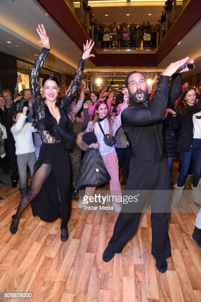 Rebecca Mir and her husband Massimo Sinato during the VIP Late Night Shopping Party on March 3 2018 in Hamburg Germany