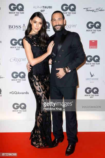 Rebecca Mir and Massimo Sinato arrive for the GQ Men of the year Award 2017 at Komische Oper on November 9 2017 in Berlin Germany