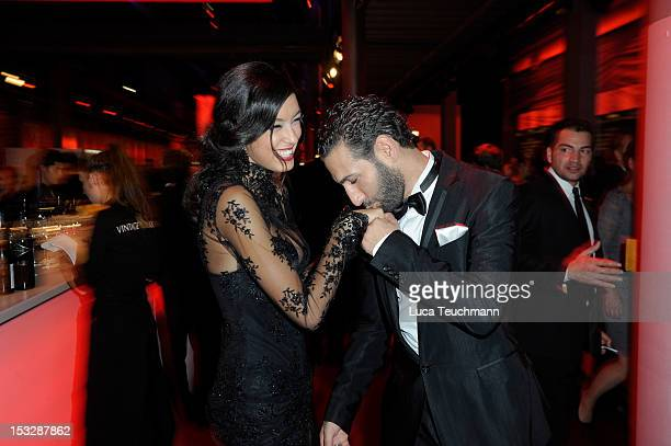Rebecca Mir and Massimo Sinato attend the German TV Award party 2012 at Coloneum on October 2 2012 in Cologne Germany