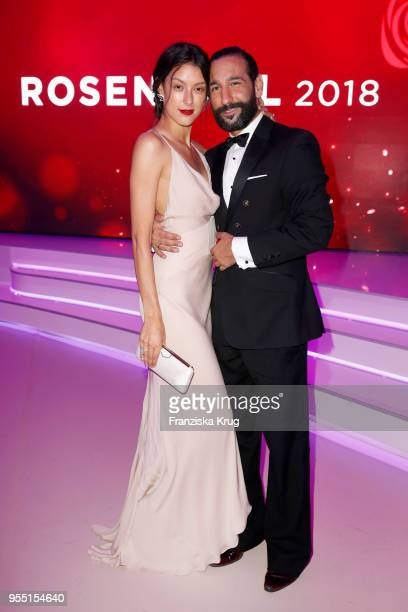 Rebecca Mir and Massimo Sinato during the Rosenball charity event at Hotel Intercontinental on May 5 2018 in Berlin Germany