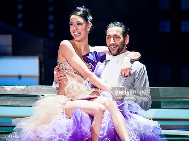 Rebecca Mir and Massimo Sinato perform during 'Let's Dance' Semi Finals at Coloneum on May 16 2012 in Cologne Germany