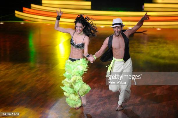 Rebecca Mir and Massimo Sinato performs during the 'Let's Dance' TV Show on March 21 2012 in Cologne Germany
