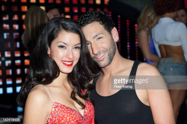 Rebecca Mir and Massimo Sinato posing for the photographers during the photocall of 'Let's Dance' 4th Show at Coloneum on April 04 2012 in Cologne...