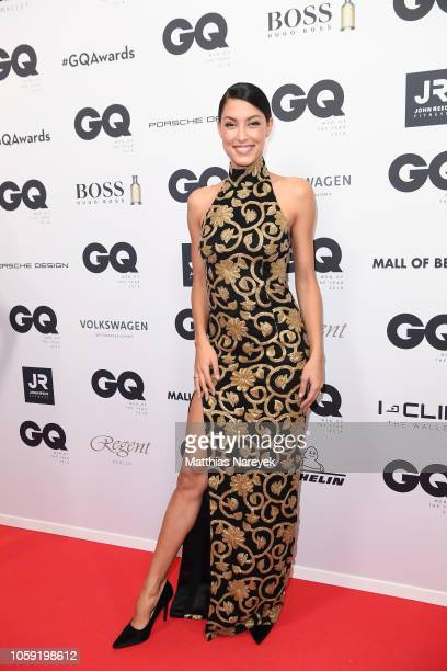 Rebecca Mir arrives for the 20th GQ Men of the Year Award at Komische Oper on November 8, 2018 in Berlin, Germany.