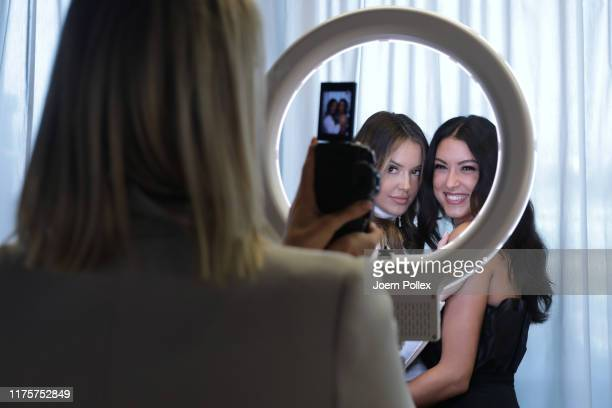 Rebecca Mir attends the Kiss House of Beauty photo call at DO Eatery on September 19 2019 in Hamburg Germany
