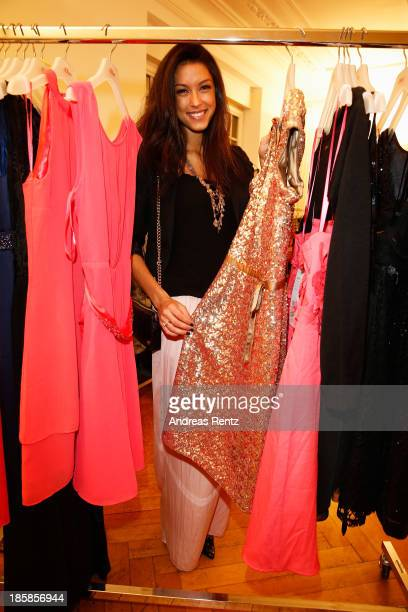 Rebecca Mir attends the sOliver pressday at Prisco house on October 24 2013 in Munich Germany