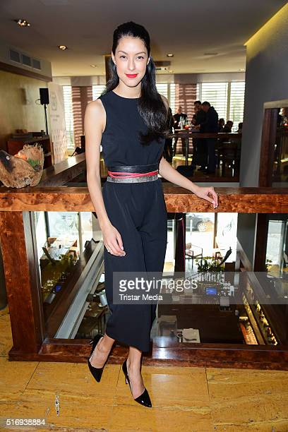 Rebecca Mir attends the Spirit of Istanbul Press Conference In Berlin on March 22 2016 in Berlin Germany