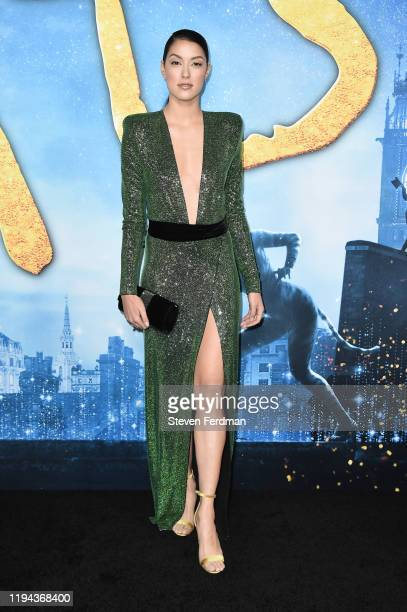"""Rebecca Mir attends the world premiere of """"Cats"""" at Alice Tully Hall, Lincoln Center on December 16, 2019 in New York City."""