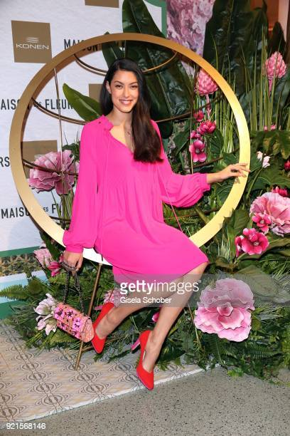 Rebecca Mir during the 'Maison des Fleurs' photo session at KONEN on February 20 2018 in Munich Germany