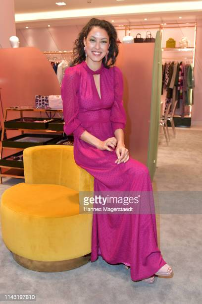 Rebecca Mir during the opening of the new Kate Spade New York boutique store on April 16 2019 in Munich Germany This store marks Kate Spade New...