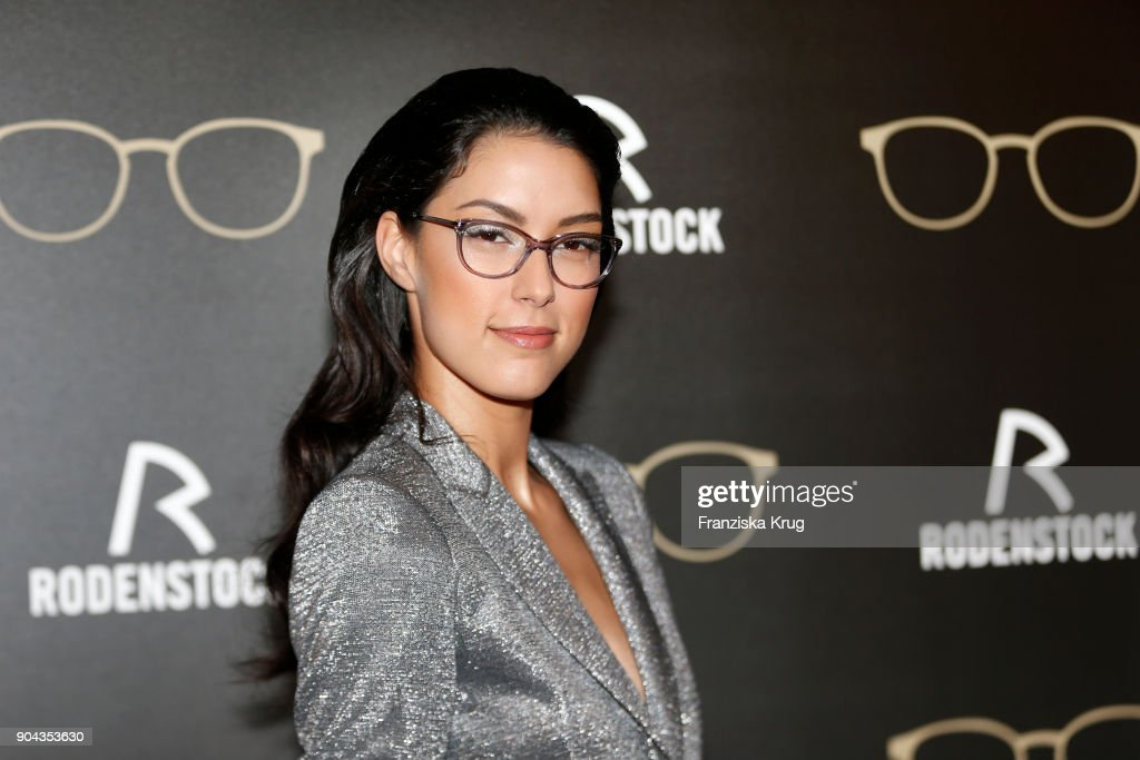 Rebecca Mir during the Rodenstock Eyewear Show on January 12, 2018 in Munich, Germany.