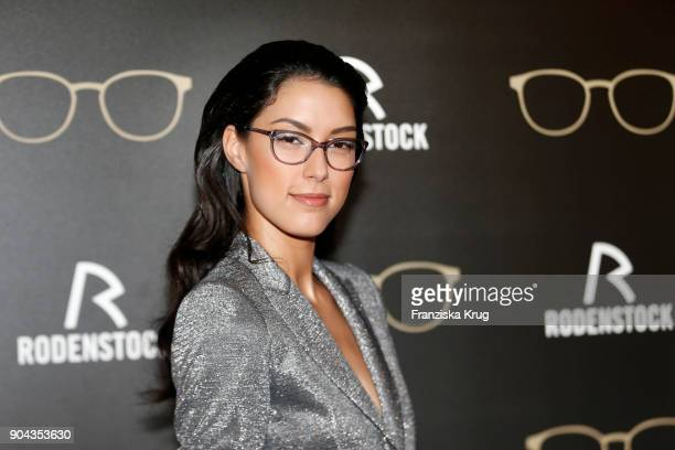 Rebecca Mir during the Rodenstock Eyewear Show on January 12 2018 in Munich Germany