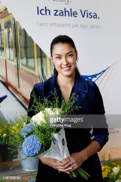Rebecca Mir during the Visa Kick-Off-Event in Hamburg on September 11, 2019 in Hamburg, Germany.