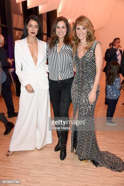 Rebecca Mir Karen Webb and Mareile Hoeppner during the world premiere of the horse show 'EQUILA' at Apassionata Showpalast Muenchen on November 5...