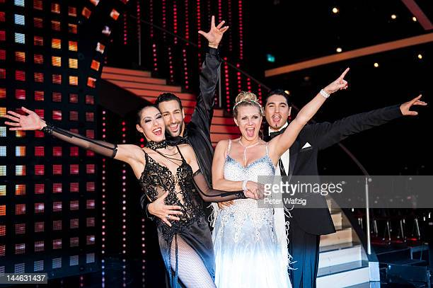 Rebecca Mir, Massimo Sinato, Magdalena Brzeska and Erich Klann pose for the photographers after 'Let's Dance' Semi Finals at Coloneum on May 16, 2012...