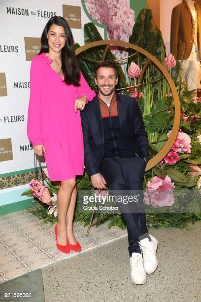 Rebecca Mir Max Alberti during the 'Maison des Fleurs' photo session at KONEN on February 20 2018 in Munich Germany