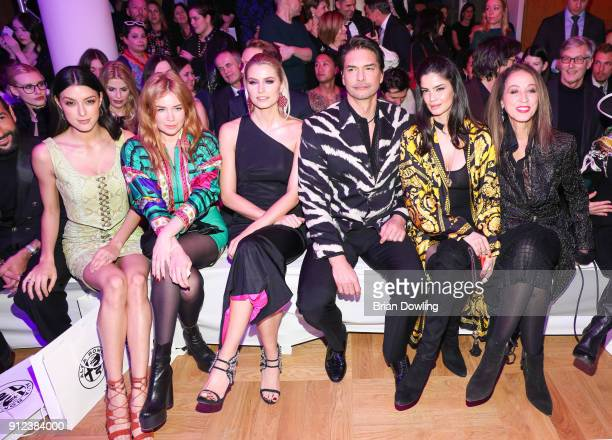 Rebecca Mir Palina Rojinski Lena Gercke Marcus Schenkenberg Shermine Shahrivar and Pat Cleveland during the Gianni Versace Retrospective opening...