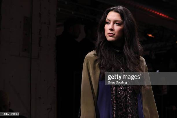 Rebecca Mir walks the runway during the Maybelline Show 'Urban Catwalk Faces of New York' at Vollgutlager on January 18 2018 in Berlin Germany