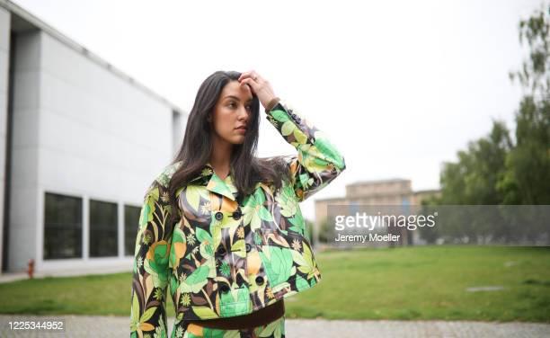 Rebecca Mir wearing a complete Fendi look on May 13 2020 in Munich Germany