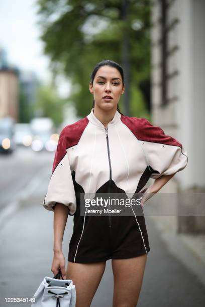 Rebecca Mir wearing a complete Longchamp look on May 13 2020 in Munich Germany