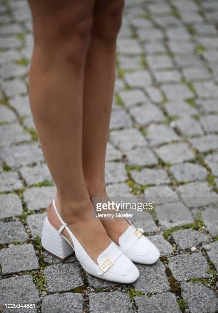 Rebecca Mir wearing a Fendi heels on May 13 2020 in Munich Germany