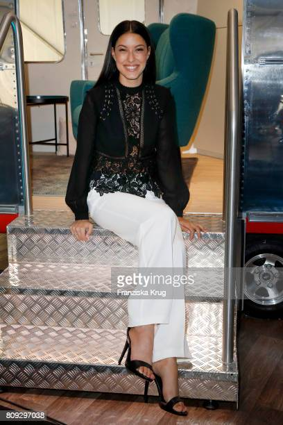 Rebecca Mir wearing Guido Maria Kretschmer by OTTO attends the Guido Maria Kretschmer Fashion Show Autumn/Winter 2017 presented by OTTO at Tempodrom...