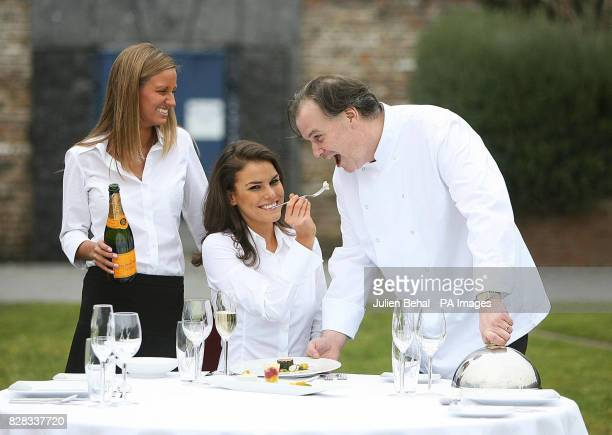 Rebecca Murray from La Stampa restaurant model Roz Lipsett and chef Derry Clarke at the launch of 'Taste of Dublin' Monday February 6 2006 Dublin's...