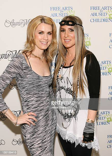 Rebecca Nelson and Lauren Moshi attend the 'Lauren Moshi Gallery for Free Arts for Abused Children' event at Lauren Moshi Gallery on December 6 2011...