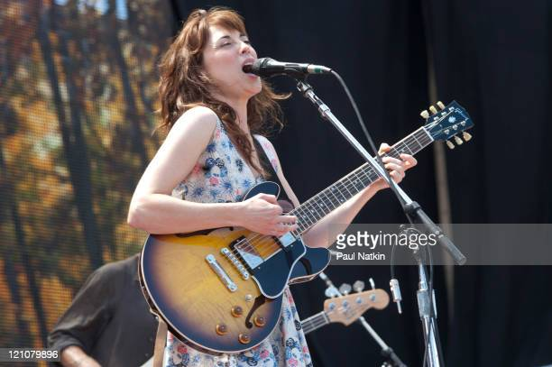 Rebecca Pidgeon performs during Farm Aid 2011 at the LiveStrong Sporting Park on August 13 2011 in Kansas City Kansas