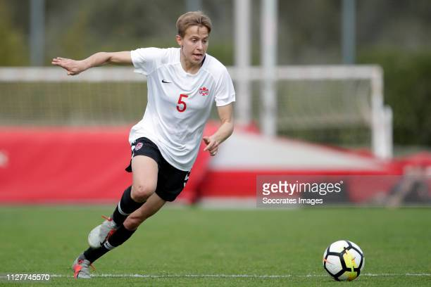 Rebecca Quinn of Canada Women during the Algarve Cup Women match between Canada v Iceland at the Estadio Municipal da Bela Vista on February 27 2019...