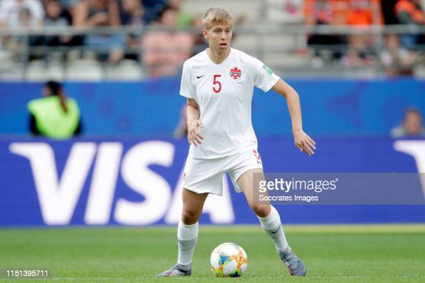 Rebecca Quinn of Canada Women during the World Cup Women match between Holland v Canada at the Stade AugusteDelaune II on June 20 2019 in Reims France