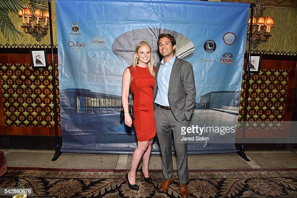 Rebecca Rattner and Alex Bergson attend AFIM Presents Celebrate Summer An Art Acquisitions Fundraiser at The Jane Hotel on June 23 2016 in New York...