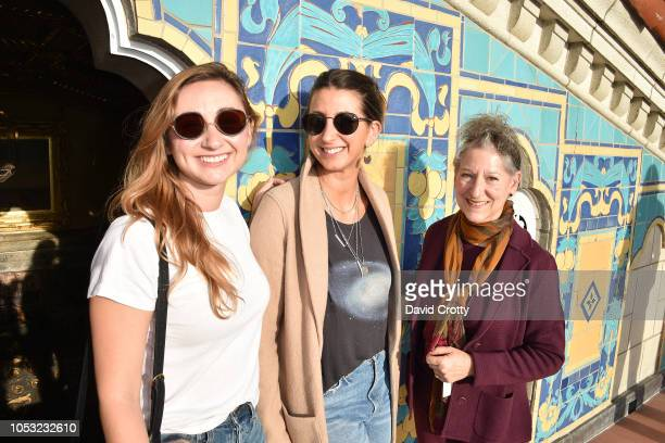 Rebecca Ravel Jamie Braverman and Mary Levkoff attend Hearst Castle Preservation Foundation Associate Trustees' Tour at Hearst Castle on September 27...